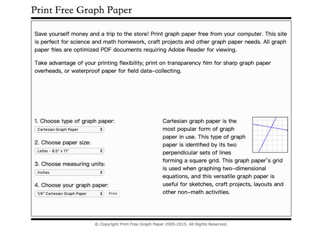 Print Free Graph Paper
