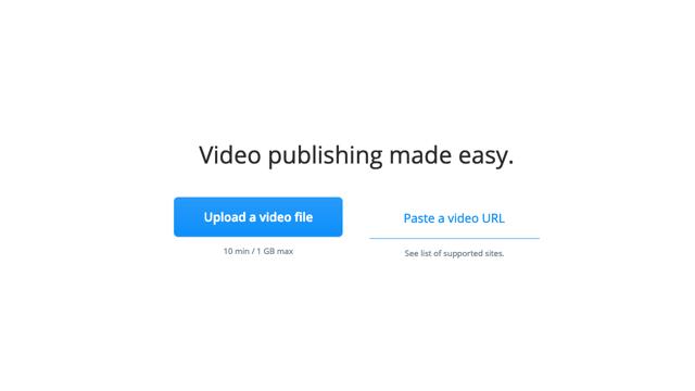 Streamable 免費影片上傳空間,快速產生分享連結或內嵌播放器語法