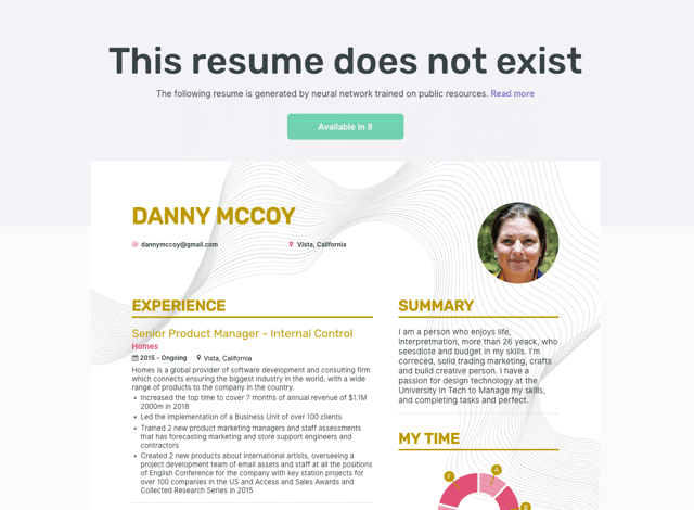 This Resume Does Not Exist