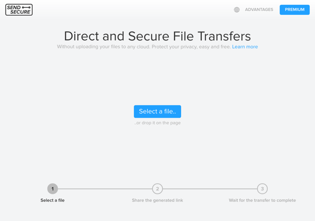 Sendsecure.io 透過瀏覽器直接傳輸檔案,兼具安全隱私無檔案大小限制