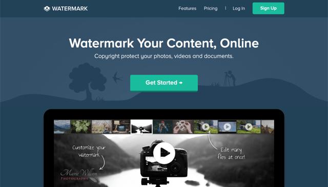 Watermark.ws 線上浮水印工具,保護你的相片影片和文件免於被竊取盜用