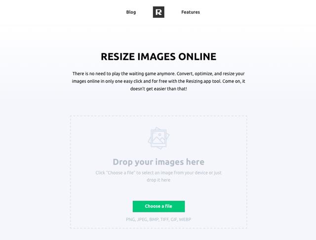 Resizing.app 線上調整圖片大小,可壓縮最佳化相片轉檔無廣告