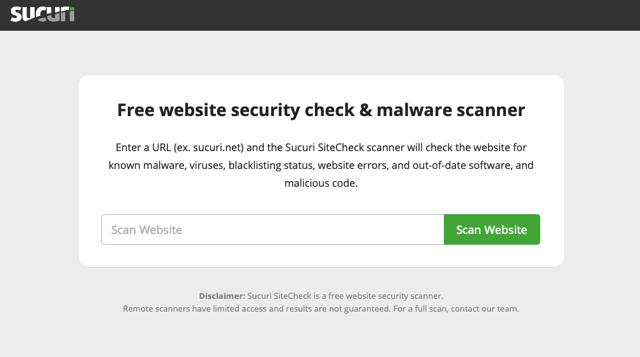 Sucuri SiteCheck 免費網站安全檢測,掃描有無惡意程式或被列入黑名單