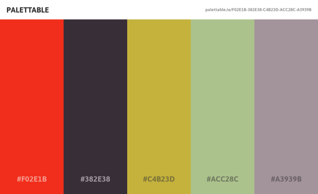 Palettable 線上產生漂亮配色,以互動方式找出最合適色彩組合