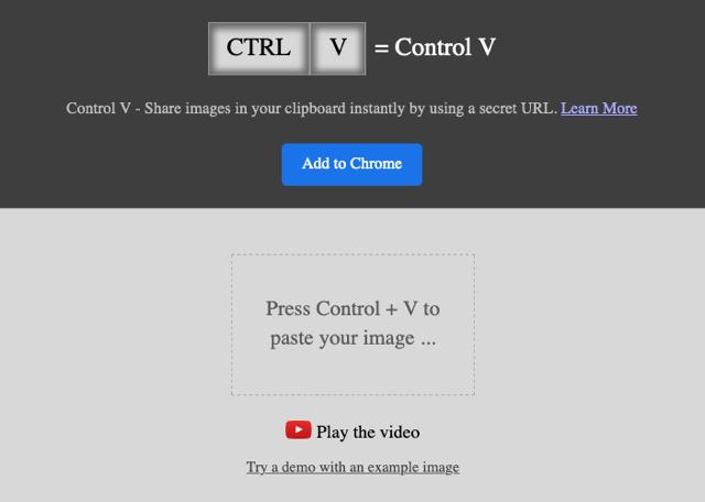 Control V 複製貼上圖片免空,可線上編輯或產生分享鏈結