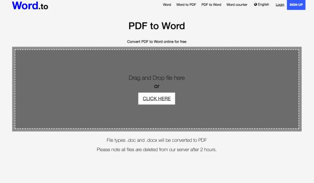 Word.to Word 而生線上轉檔工具,可將檔案轉 doc、docx Screenshot-2020-05-0