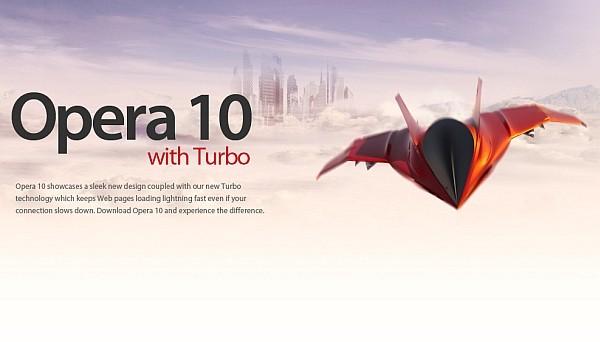 Opera 10 with Turbo