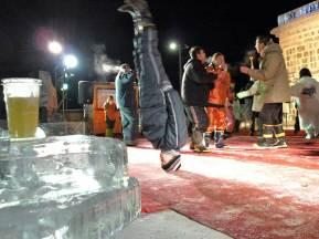 紋別 流氷祭り 氷のステージ