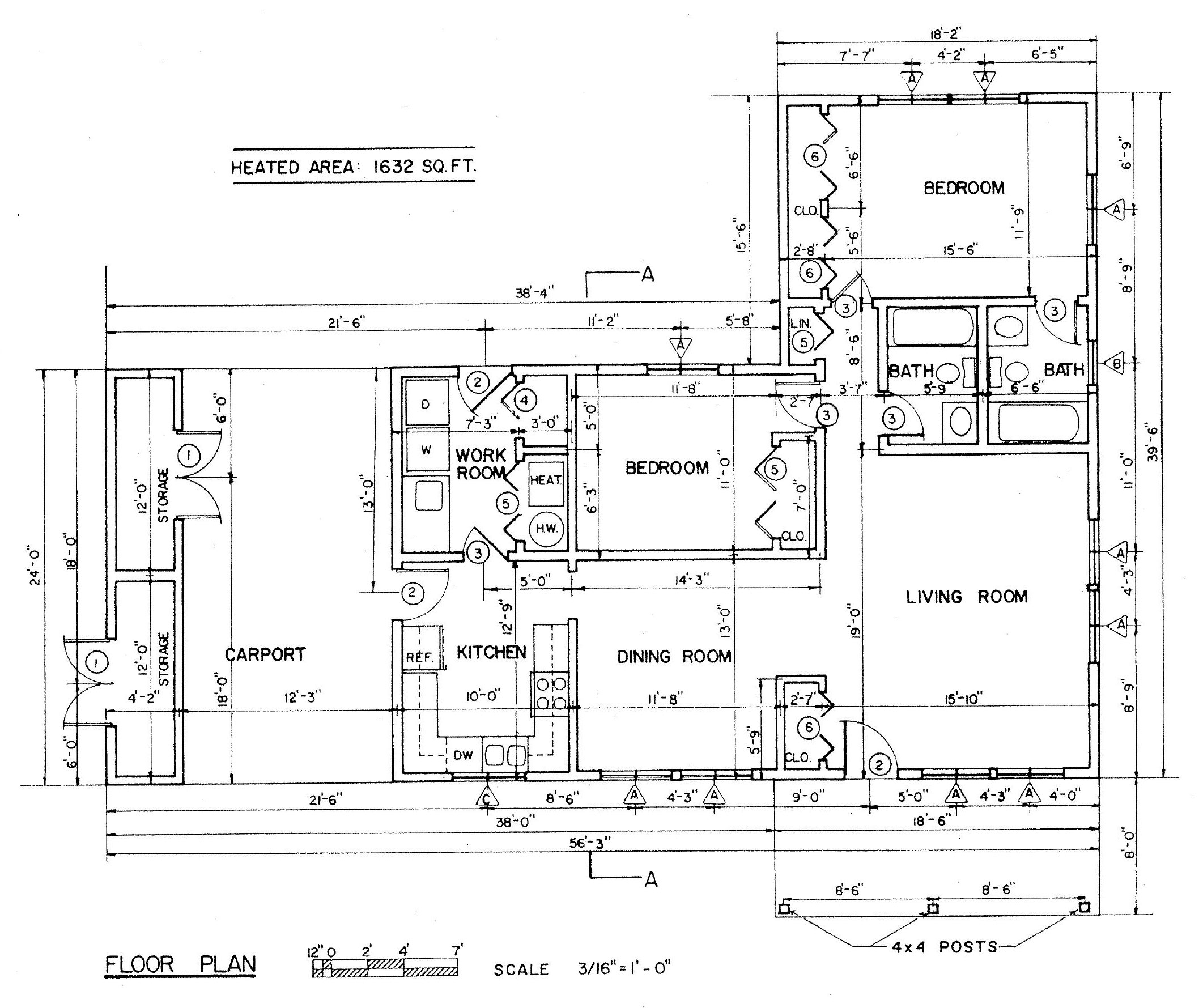 Free Ranch Style House Plans with 2 Bedrooms