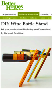 Angled Wine Bottle Holder Plans