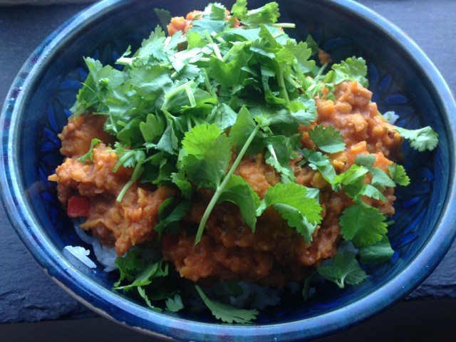 vegan sweet potato & lentil curry