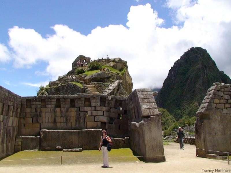 Sacred Plaza with Temple of the Sun in the background