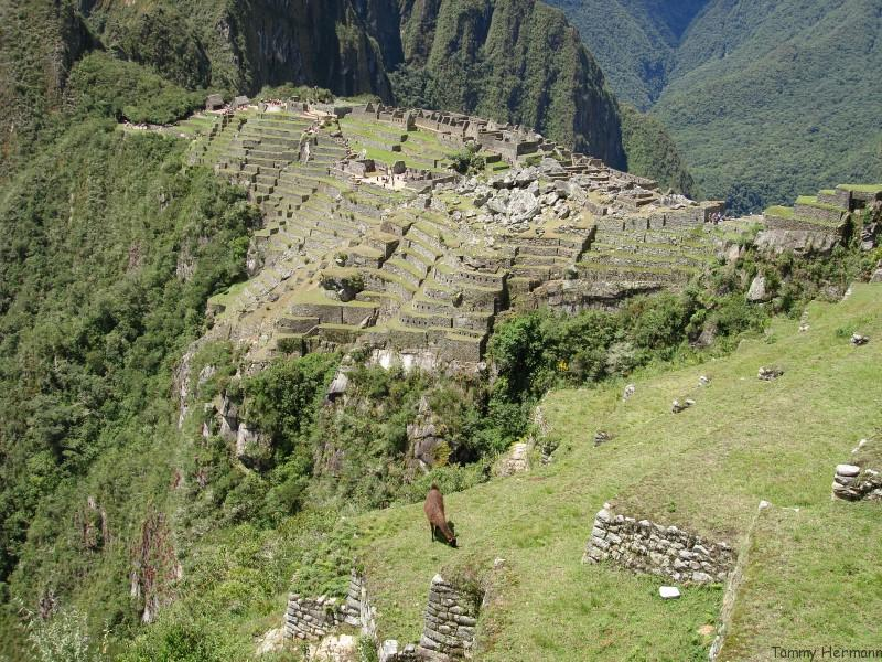View from the Inca Bridge Trail