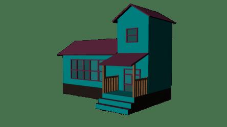 Cartoon House Free 3D Model fbx Free3D