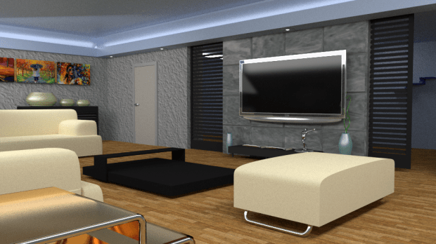 Interior Design Free 3D Model 3ds Obj Blend Fbx Free3D
