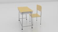 School Chair Free 3D Model - .blend - Free3D