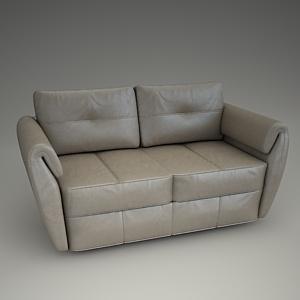pouf in living room pinterest paint colors for frizzante sofa 3d model - etap free models ...