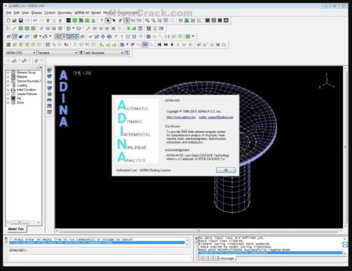 ADINA System 9.6.3 Crack