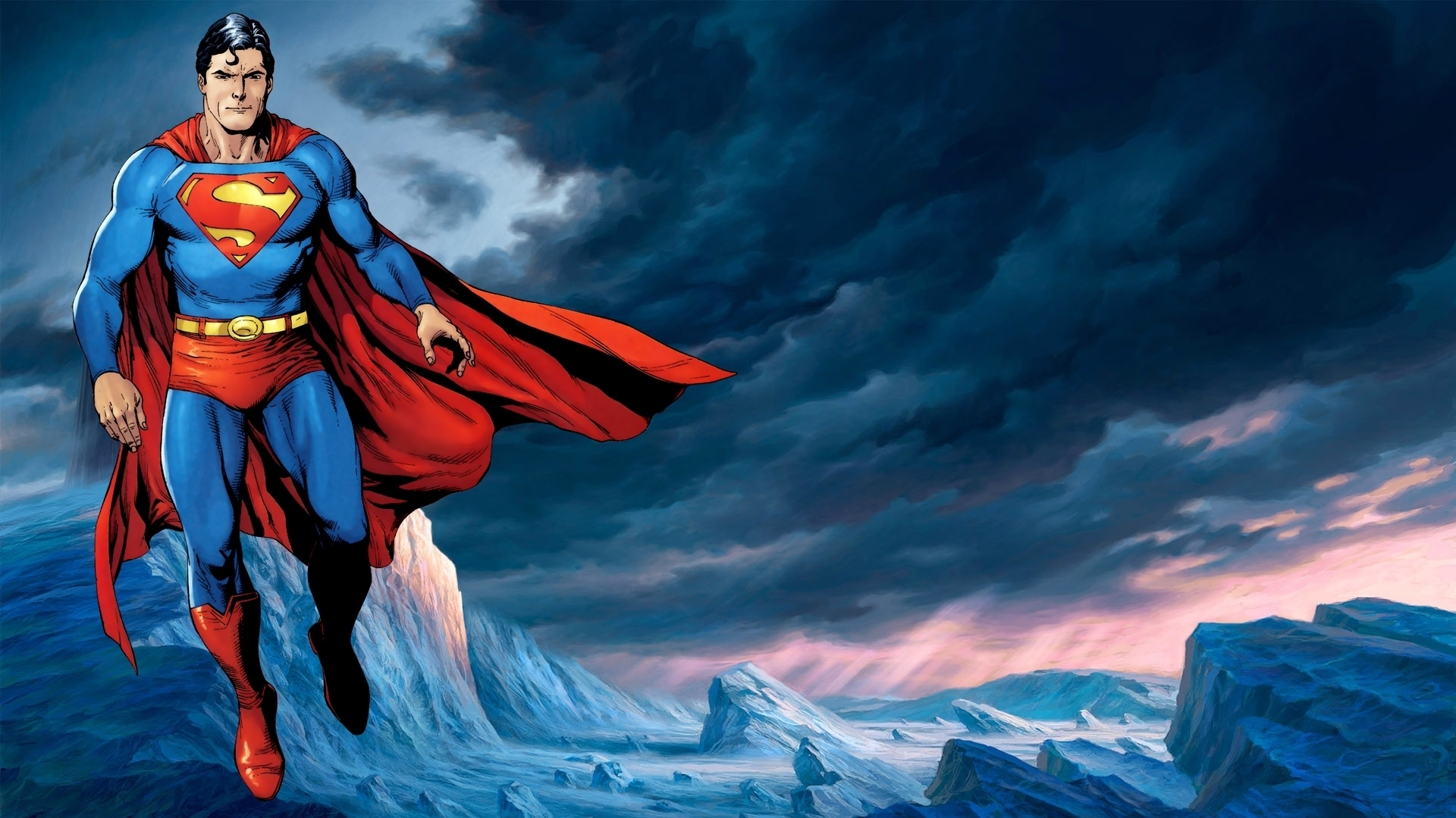 Superman Cartoon Hd Wallpaper
