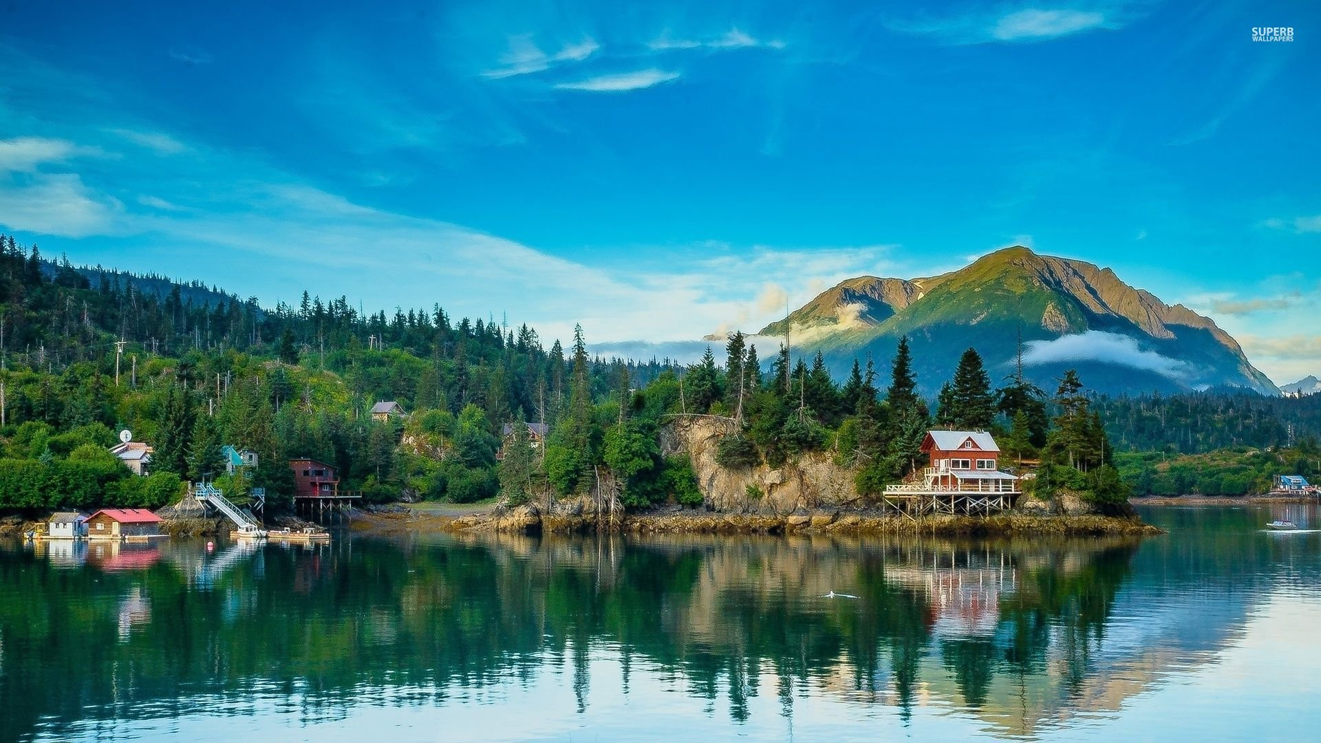 Fall Wallpaper Hd For Galaxy S4 Village In Alaska Hd Wallpaper