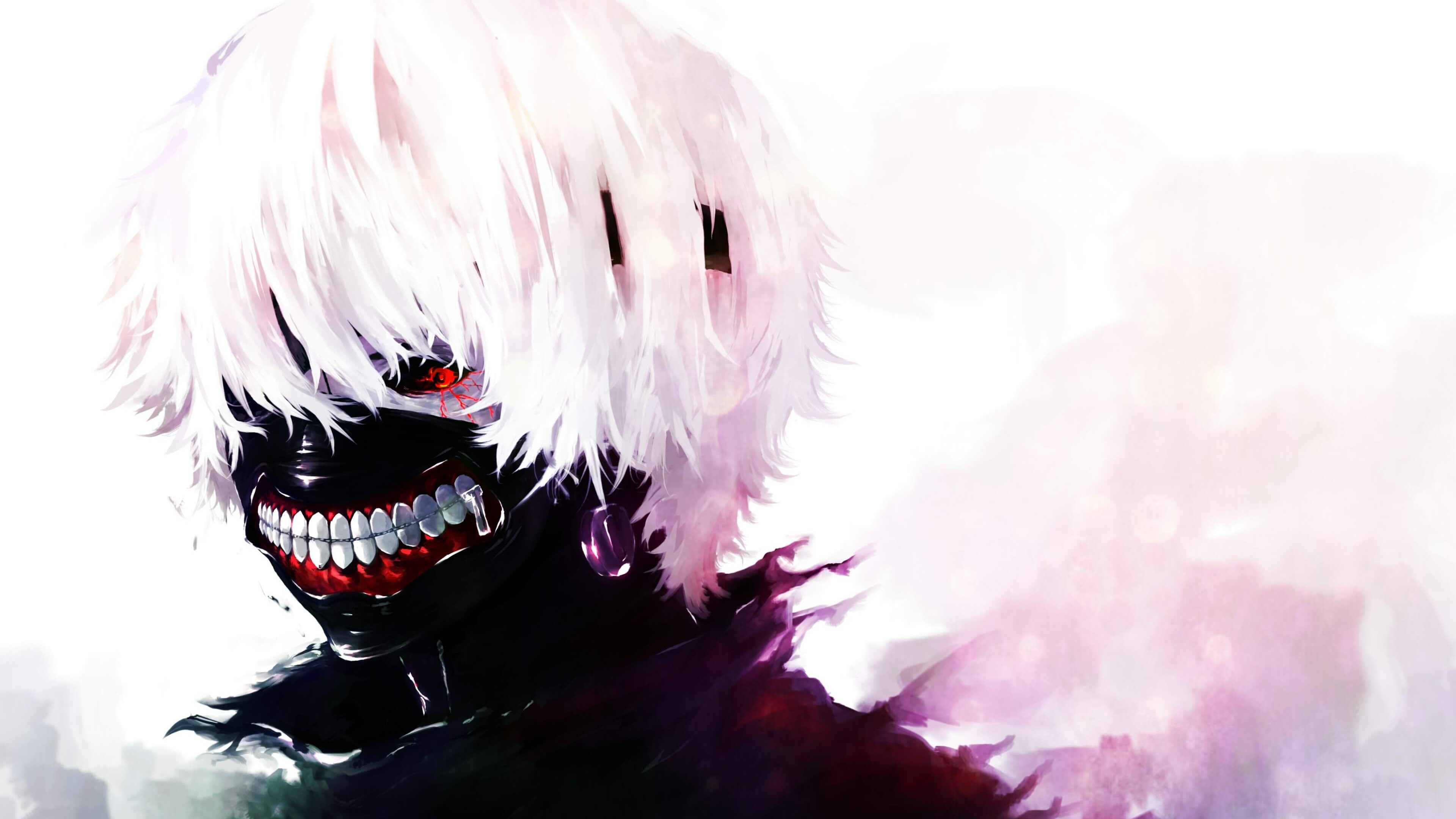 Tokyo ghoul is a japanese manga series of dark fantasy genre. Ken Kaneki - Tokyo Ghoul 4K wallpaper