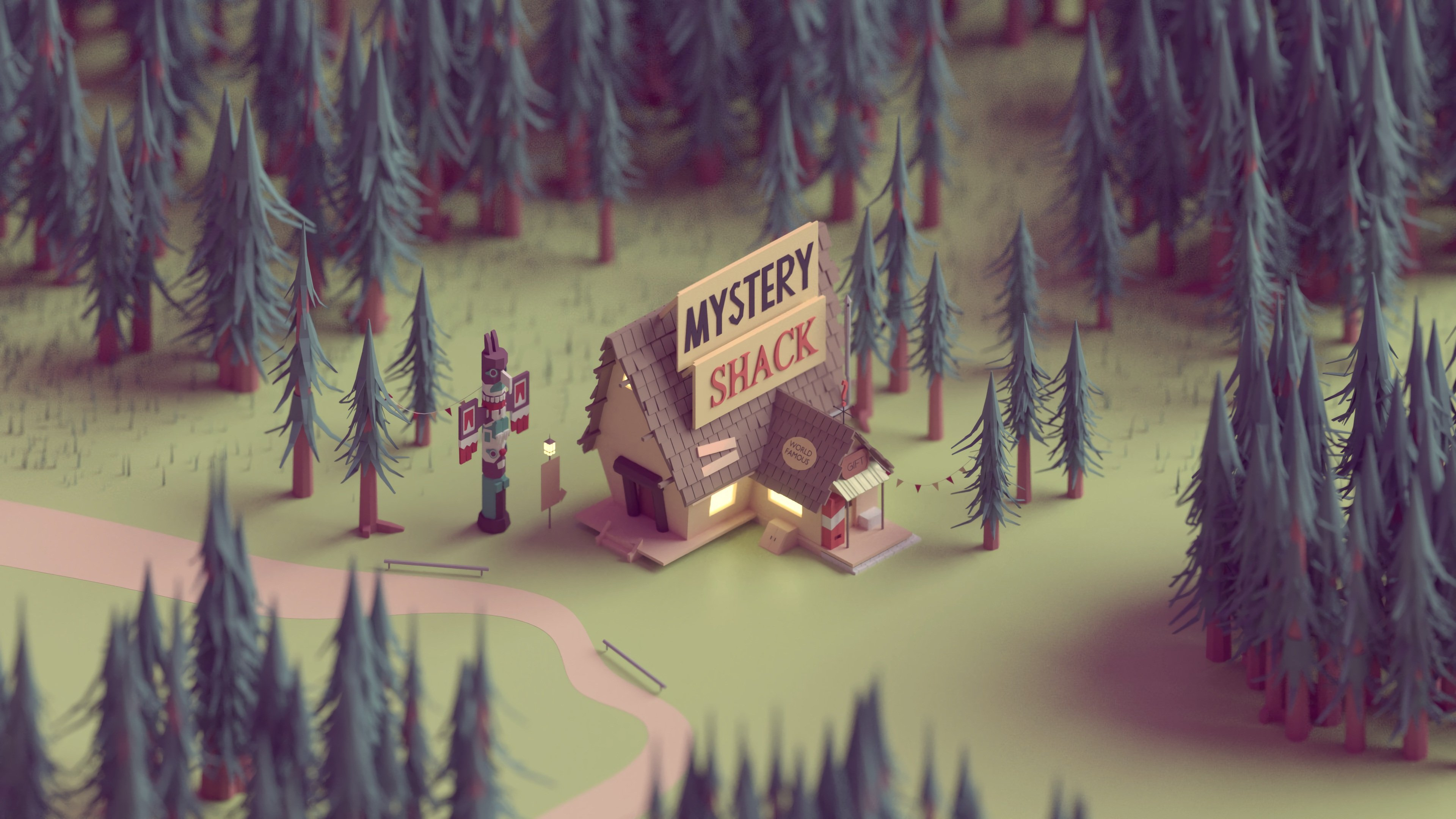 Gravity Falls Hd Wallpaper Mystery Shack Gravity Falls 4k Wallpaper