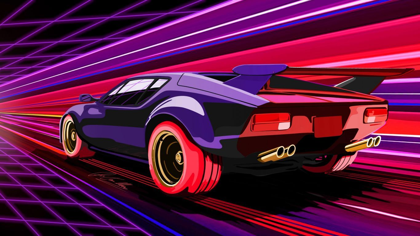 Thus, adjusting the wallpaper to the wall dimensions is no longer a problem. Vector Art Car Concept Wallpaper In 1366x768 Resolution
