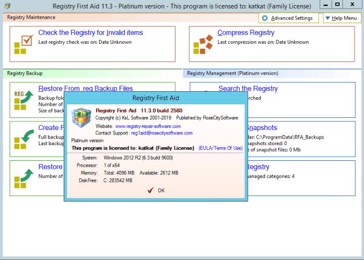 Registry First Aid Platinum 11.3.0 Build 2580 crack