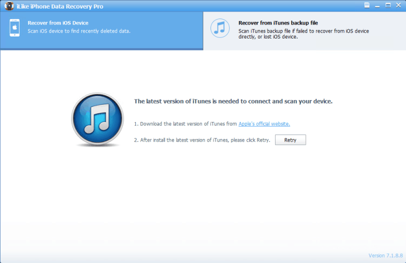 iLike iPhone Data Recovery Pro full version
