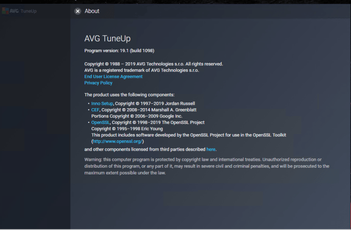 AVG TuneUp 19.1 Build 1098 Full version