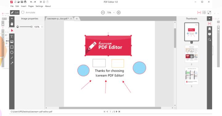 Icecream PDF Editor Full version is here