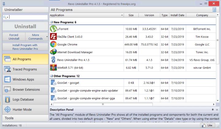Revo Uninstaller Pro 4.1.5 License Key