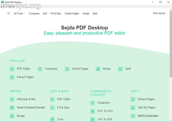 Sejda PDF Desktop Pro 5.3.6 Full version