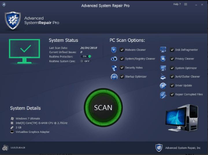 Advanced System Repair Pro License Key