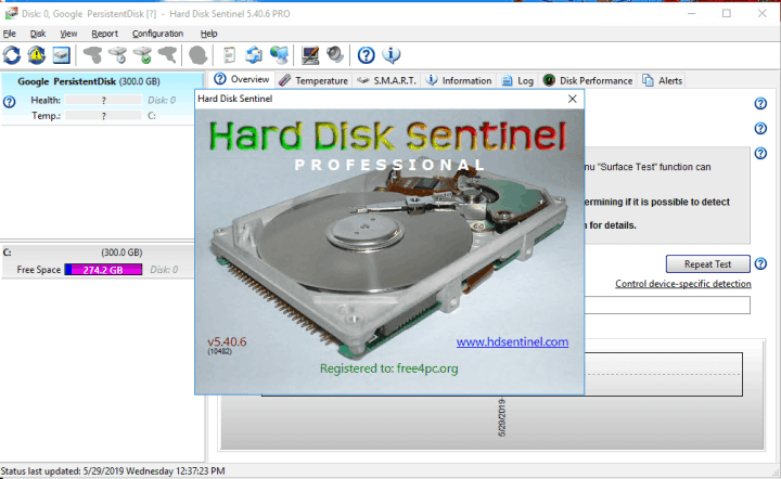 Hard Disk Sentinel Pro 5.40.6 Build 10482 Beta With Crack