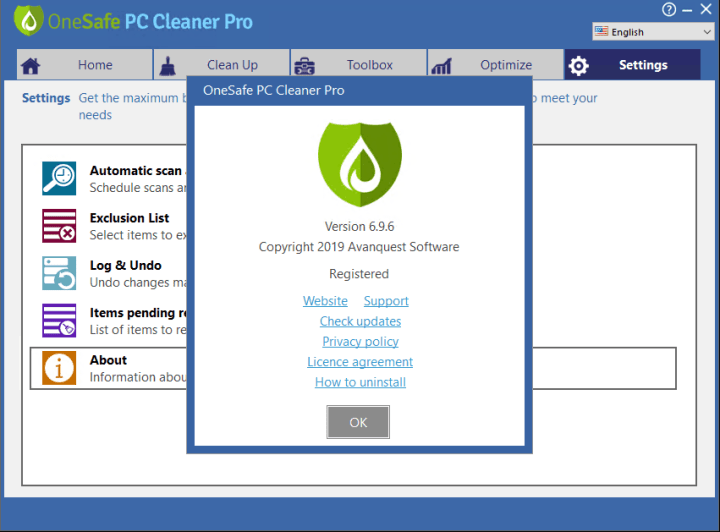 OneSafe PC Cleaner Pro 6.9.6.7 Crack