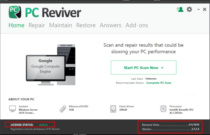 ReviverSoft PC Reviver 3.7.2.4 With Crack