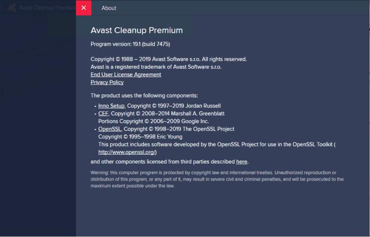 Avast Cleanup Premium 19.1 Build 7475 Full version