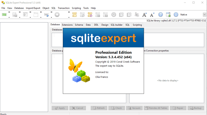 SQLite Expert Professional 5.3.4.452 License Key