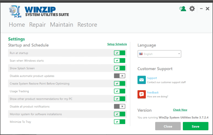 WinZip System Utilities Suite 3.7.2.4 Crack