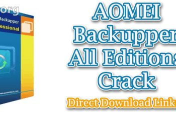 AOMEI Backupper All Editions Crack