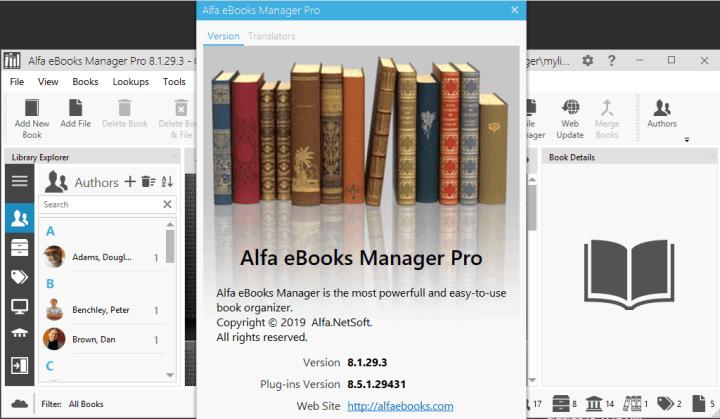 Alfa eBooks Manager Pro 8.1.29.3 Crack