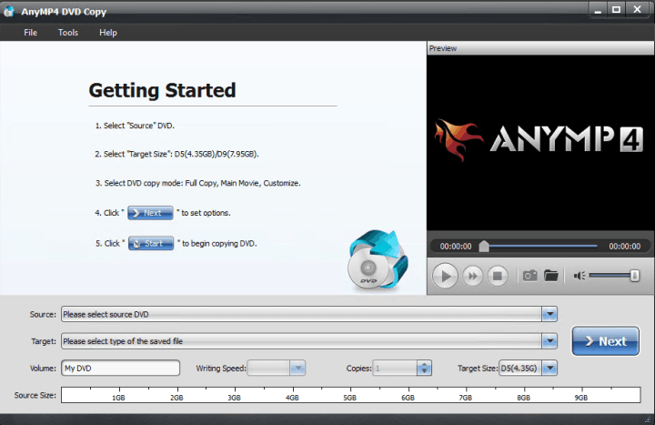 AnyMP4 DVD Copy 3.1.30 Crack