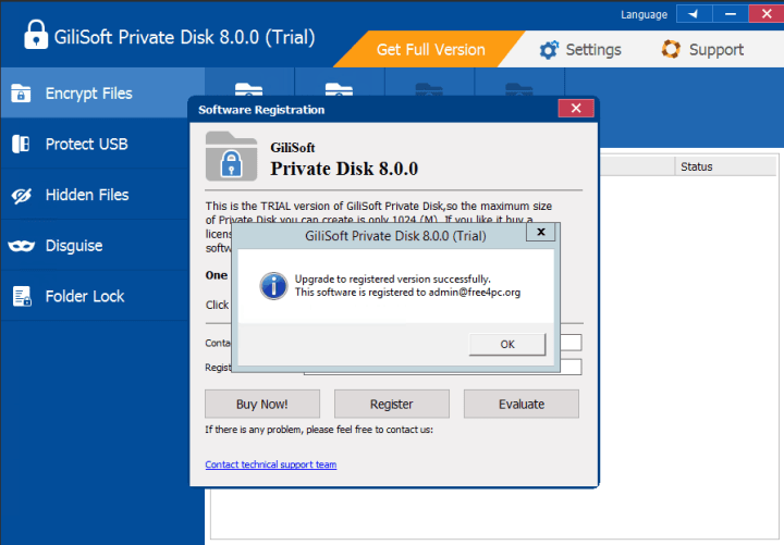 GiliSoft Private Disk 8.0.0  Serial key