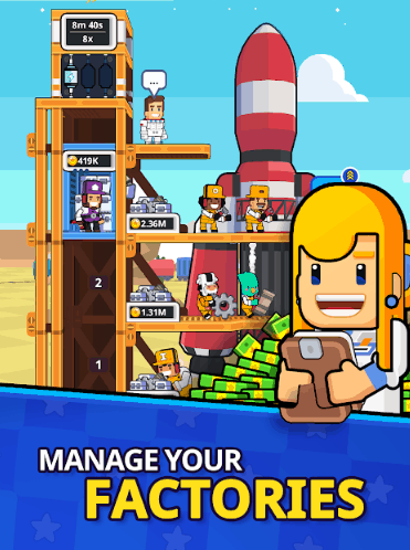 Rocket Star Idle Space Factory Tycoon Games v1.23.1 MOD APK