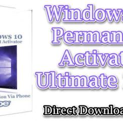 Windows 10 Permanent Activator Ultimate 2019 2.7 [Latest]