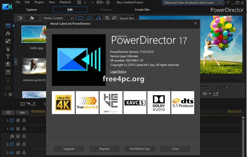cyberlink powerdirector 17 crack download