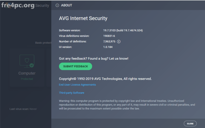AVG Internet Security 19.7.3103 License Key