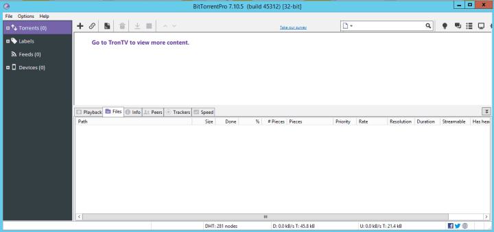 BitTorrent Pro 7.10.5 Build 45312 Full version
