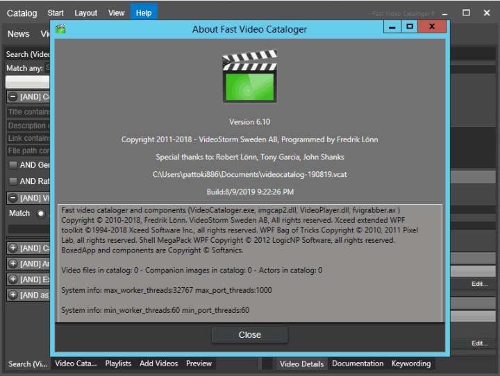 Fast Video Cataloger 6.10 Crack